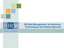 Introduction to Human Resource Information Systems