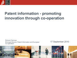 Patent information Quo vadis?