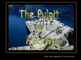 Preikestolen (pulpito di roccia) -