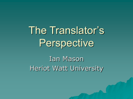 The Translator`s Perspective