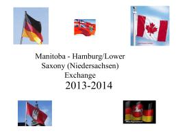 Manitoba - Hamburg/Niedersachsen Exchange