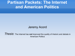 Partisan Packets: The Internet and American