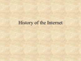 History of the Internet - St. John Fisher College