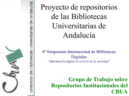 Proyecto de repositorios de las Bibliotecas