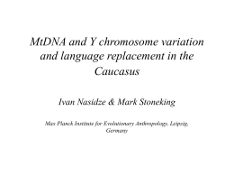 `MtDNA and Y chromosome variation and language