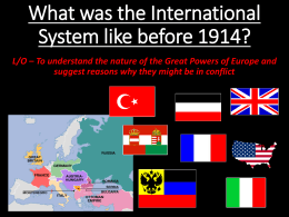 What was the International System like before
