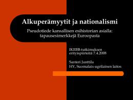 Alkuperämyytit ja nationalismi