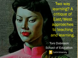Two way learning? A critique of East/West