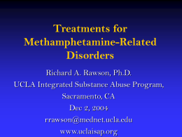 Treatments for Methamphetamine