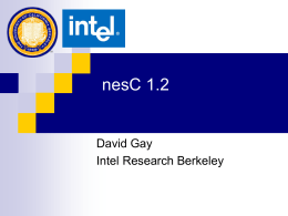 NesC 1.2 - generic components, external types -