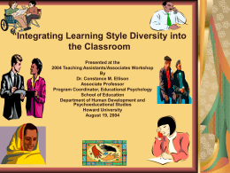 Integrating Learning Style Diversity into the