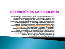 Definición de la fisiología