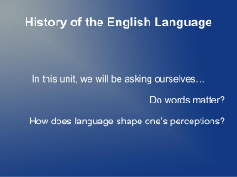History of the English Language - Hatboro