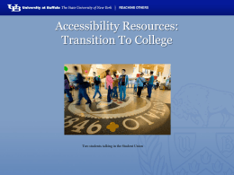 2014 Transition To College Presentation