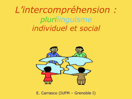 L'intercompréhension (entre langues parentes)