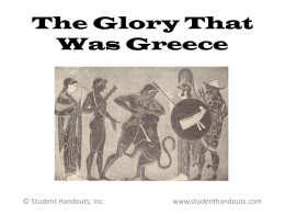 The Glory That Was Greece PowerPoint Presentation