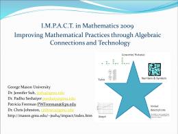 Algebra – what is it? - George Mason University