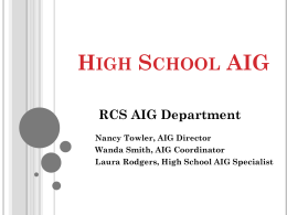 High School AIG