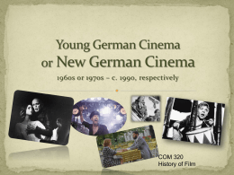 Young German Cinema & New German Cinema