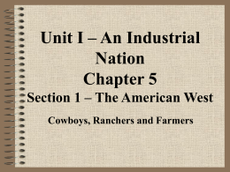 Unit VI- U.S. Cultural History to World War II