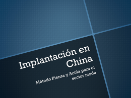 Implantación en China