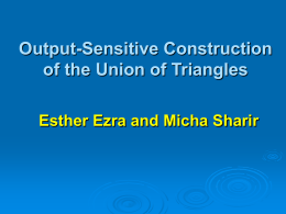 Efficient construction of the union of triangles