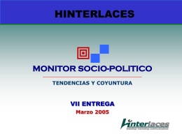 VII MONITOR SOCIOPOLITICO HINTERLACES