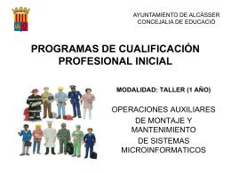 PROGRAMES DE QUALIFICACIÓ PROFESSIONAL INICIAL