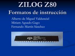 ZILOG Z80 - Dpto. Informática (Universidad de