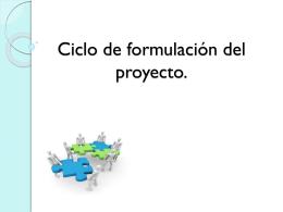 Ciclo de formulación del proyecto.