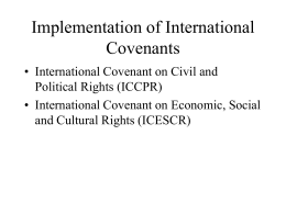 Implementation of International Covenants -