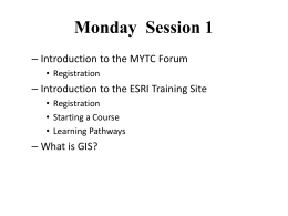 Monday Session 1 - Eastern Michigan University
