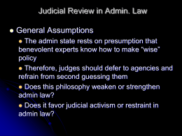 Judicial Review in Admin. Law