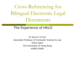 Processing Legal Documents in the Chinese