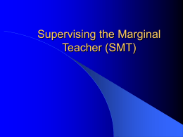 Supervising the Marginal Teacher