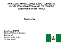 HARNESSING INFORMAL CROSS BORDER COMMERCIAL