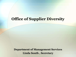 Office of Supplier Diversity MATCHMAKER 2004