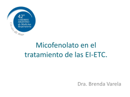 Micofenolato en el tratamiento de las EPD‐ETC.