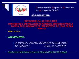 Confederación Deportiva Autónoma de Guatemala CDAG