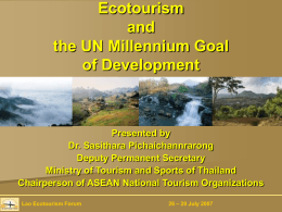 ภาพนิ่ง 1 - Sustainable Tourism Development