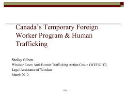 Canada's Temporary Foreign Worker Program & Human