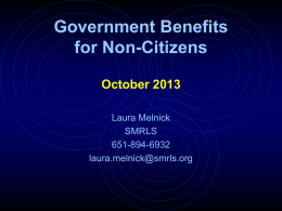 Government Benefits for Non