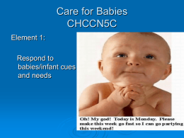 Care for Babies CHCCN5C - UBCC Childrens Services