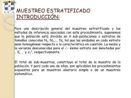 MUESTREO ESTRATIFICADO INTRODUCCIÓN: