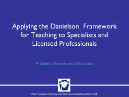 Applying the Danielson Framework for Teaching to