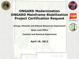 ONGARD Modernization