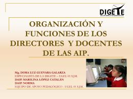 Diapositiva 1 - ÁREA DE GESTIÓN PEDAGÓGICA UGEL 01