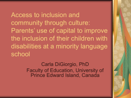 Access to inclusion and community through culture: