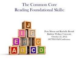 The Common Core Reading Foundational Skills: New