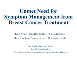 Unmet Need for Symptom Management from Breast